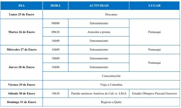 Actividades de #LDU (del 25 al 31 de Enero)   Liguistas, LDU